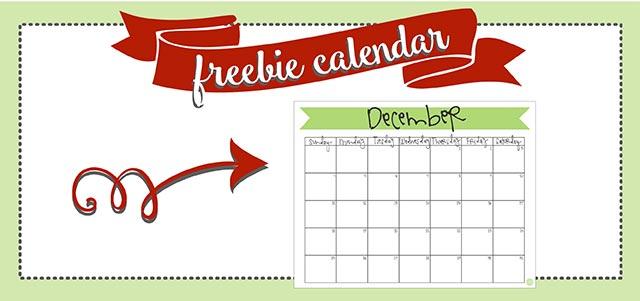 December 2016 Calendar - Free Printable Live Craft Eat