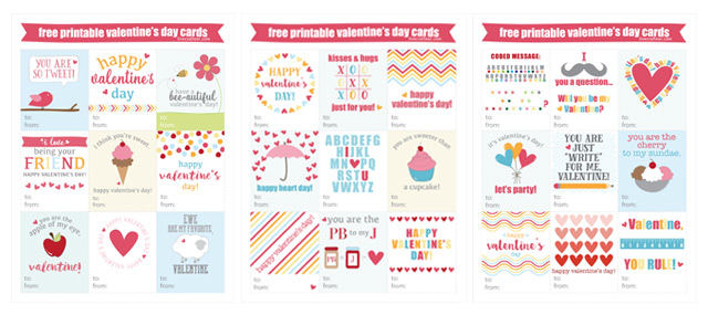 Free Printable Valentine\u0027s Day Cards For Kids Live Craft Eat