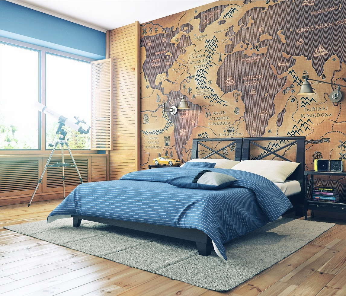 World Map Decorations 17 Cool Ideas For World Map Wall Art Live Diy Ideas