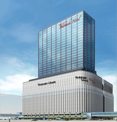 ヨドバシ梅田の完成予想図をご覧ください 大阪駅と2階デッキで繋がるゾ