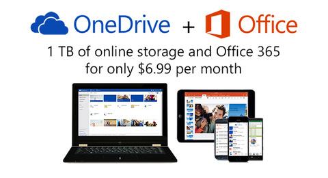 米マイクロソフト、「OneDrive」無料版のストレージが倍増 有料プランも値下げ