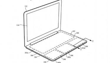 Apple、キーボードを無くしたMacBookの特許を取得
