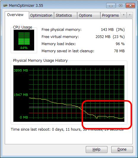 Windows向け自動メモリ解放ソフト「MemOptimizer(1,680円)」が無料化!!