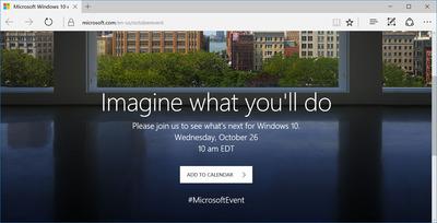 """マイクロソフト、10月26日に「Windows 10」イベント開催へ """"iMac対抗Surface""""も?"""
