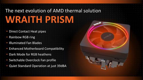 AMD純正CPUクーラーの新型モデル「Wraith Prism」登場