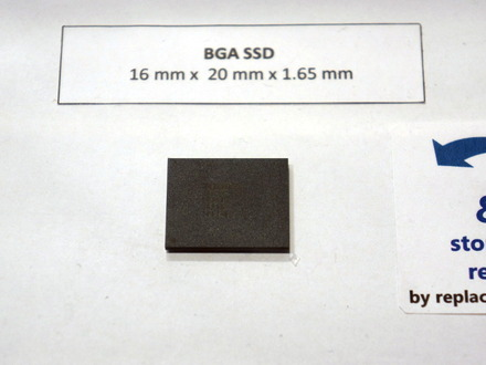 東芝がBGAパッケージの極小1チップPCIe SSD、今年中にモバイルノート向け量産目指す