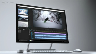 マイクロソフト、液晶一体型デスクトップPC「Surface Studio」を発表