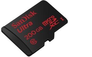 SanDisk、世界最大容量となる200GBのmicroSDカードを発売