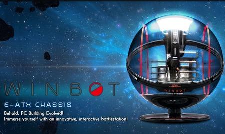 In Win、球体デザインのPCケース「WINBOT」。CES 2018開幕を祝し数量限定販売(3500ドル、ただし在庫切れ)