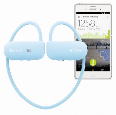 ソニー、ランニングのログ計測と音楽再生が可能なヘッドホン型端末「Smart B-Trainer」