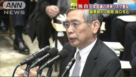 日本銀行の議事録削除問題