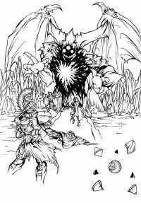 Destiny Titan Coloring Coloring Pages