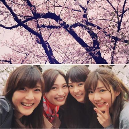桐谷美玲のお花見は美女だらけ、インスタ写真に「異次元過ぎる」と絶賛【画像あり】