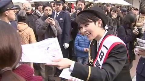 剛力彩芽さんが1日警察署長に!神奈川県警・幸署にて可愛い制服姿を披露【画像あり】