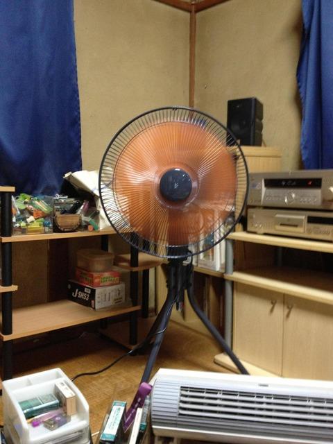 【画像あり】あまりに暑いから工場扇買って来たったwwwwwww