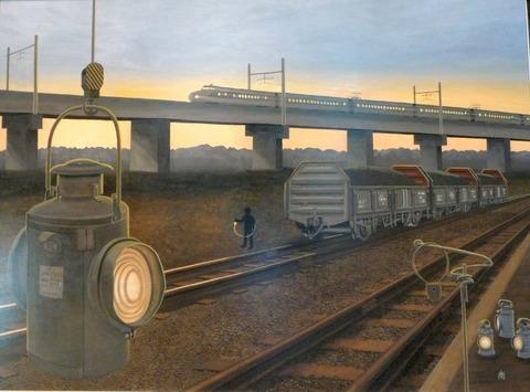 【画像あり】電車大好きな(^q^)が絵を描いてみたらこうなった…レベル高すぎ