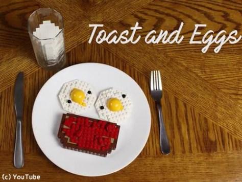 朝食づくりをレゴで表現した動画がすごい00