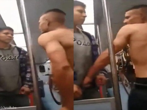 電車でケンカをふっかけていた00