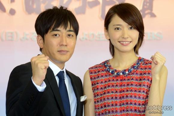 新垣結衣選手、TBS安住アナ(173㎝)に完勝