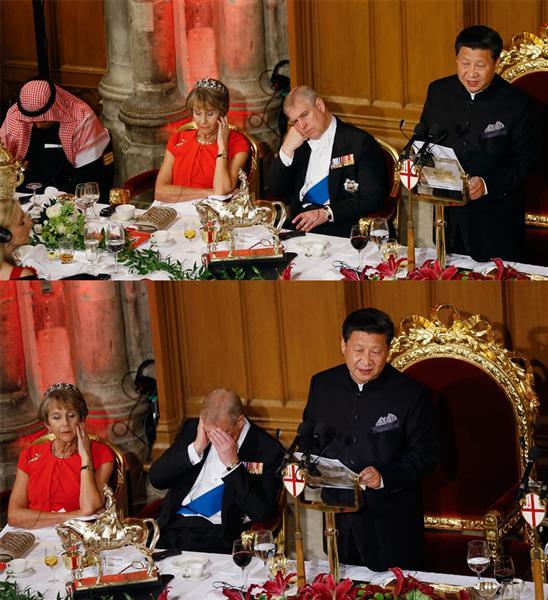 英王子ら退屈&居眠り? 習近平氏の演説を英紙が「ぶざま」と辛口評論 [産経新聞]