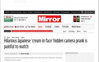 日本で女性の顔面に大砲でクリームを叩きつける番組がある…笑いの単純さに賞賛せざるを得ない 英紙