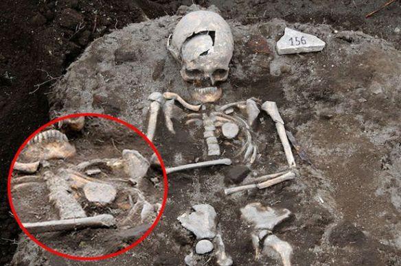 吸血鬼の墓から吸血鬼の骸骨が見つかる…胸に鉄の杭(画像あり)