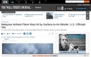 米政府が公式発表「マレーシア航空機は地対空ミサイルで撃ち落とされた」=地対空ミサイル「Buk」を使用か