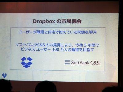 Dropboxがソフトバンクと提携