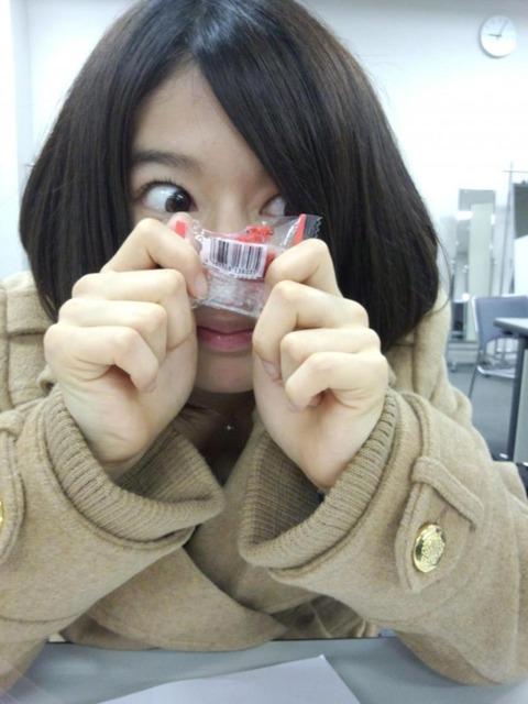 AKB竹内美宥ちゃん、みずから鼻を隠す!