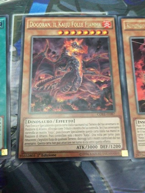 【遊戯王TCGフラゲ】海外のCORE新規収録 『Doragon, the Mad Flame Kaiju』、『Kumongous the Sticky Thread Kaiju』等が判明!