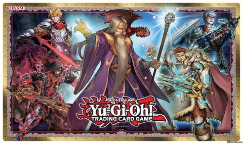 【遊戯王TCGフラゲ】海外で発売される聖騎士ストラクのラバープレイマットのイラストが判明!