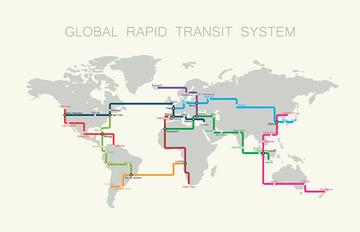【米国】真空チューブで高速移動 「ハイパーループ」世界10路線を発表