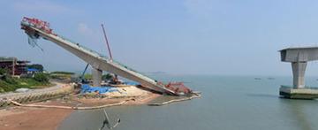 韓国の大橋が工事中に大崩壊
