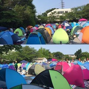 運動会は家族でテント…まるで野外フェス、様変わりする学校行事
