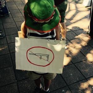 安保法案反対派が小1の子供を利用してデモ活動 → 「児童虐待だ」と批判殺到して炎上
