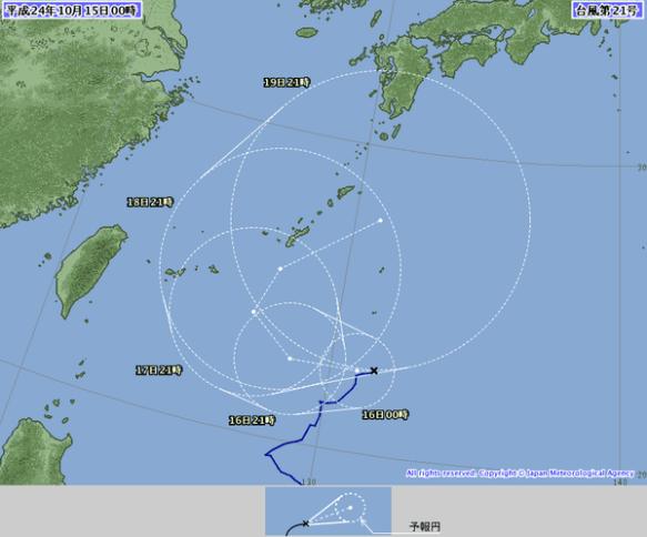 台風21号の予想進路ワロタwwwwwwwwwwwwwwwww