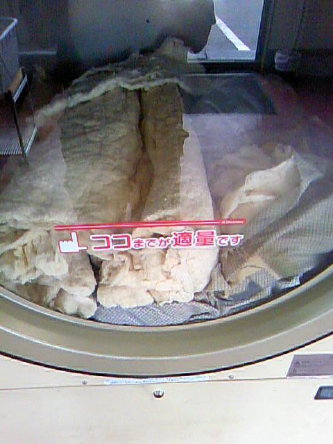 【画像】コインランドリーで布団丸洗いした結果wwwwwww