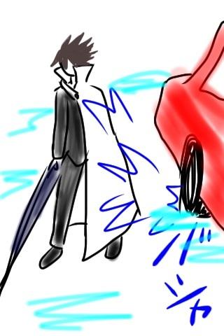水たまりを車が通って水が自分にバシャッとかからない方法考えたwww