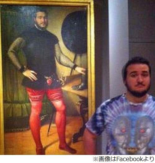 【画像】美術館の400年前の肖像画に完全に自分と同じ顔が描かれていた男