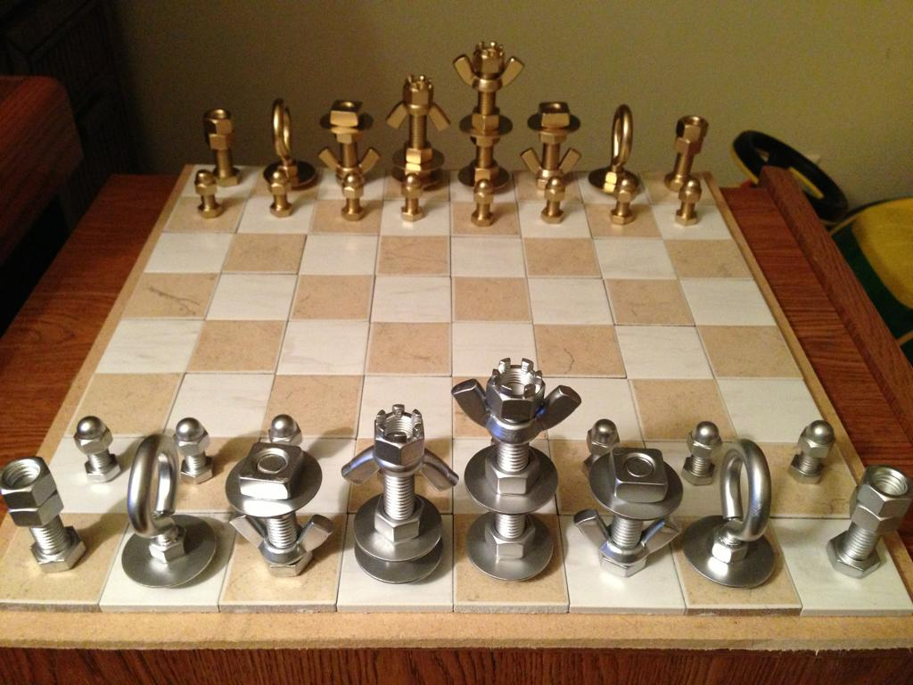 Personalized Chess Set Gift 手作り作り方 Plum Heart