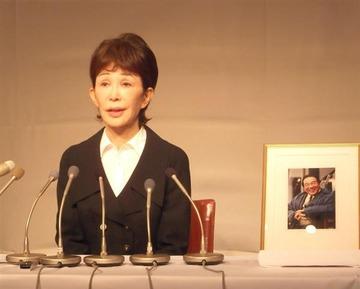 うつみ宮土理「憲法9条を守ろうと言っている声が聞こえます」 愛川欽也死去で初の会見