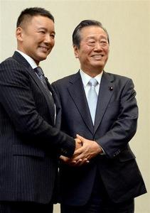 【生活の党】一郎&太郎そろって記者会見 共同代表就任を発表 「イスラム国」で安倍政権批判