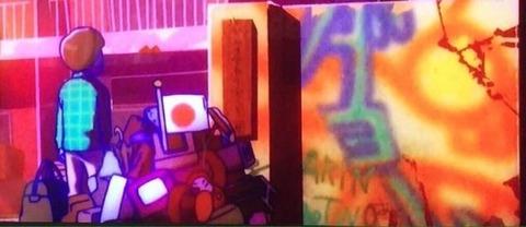 おそ松さん最終回で、壁の落書きに「AKINI Twoあるよ」と書かれていたと話題に! エンドカードの宇宙語っぽいものをいじってみると… 2期来るか!?