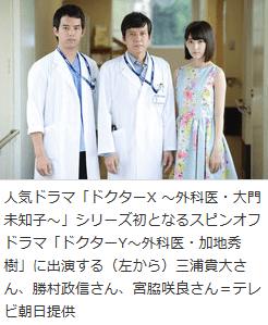 勝村政信さん主演の「ドクターX 」スピンオフドラマ「ドクターY~外科医・加地秀樹」が配信決定!