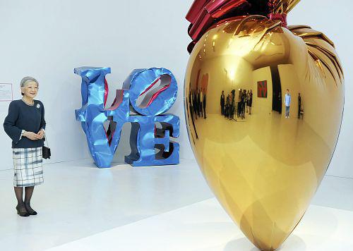 皇后さま、六本木ヒルズ森美術館で「LOVE展」ご覧になり「これがミクちゃんですか」