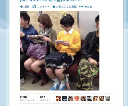 【画像あり】 日本の電車がフリーダムすぎると海外で話題wwww