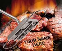 """【米国】「俺の肉」を取られずに済む! お肉に名前を焼き付けられる焼きごて""""BBQ Branding Iron"""""""