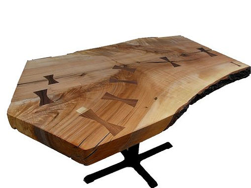 Five Sided Ambrosia Maple Live Edge Table Live Edge