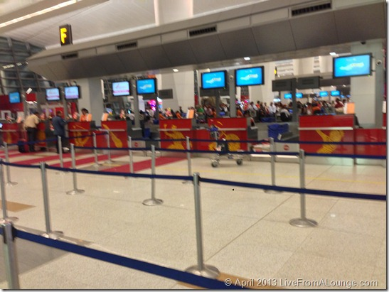Air India Business Class Check-in DEL T3