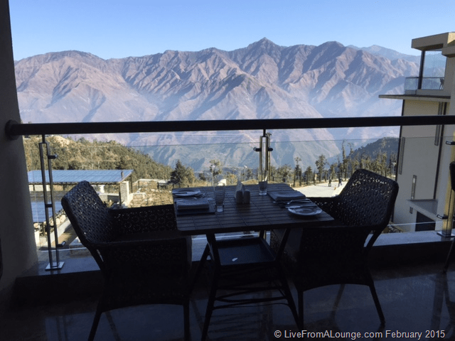 Breakfast with a view @ JW Marriott Mussoorie